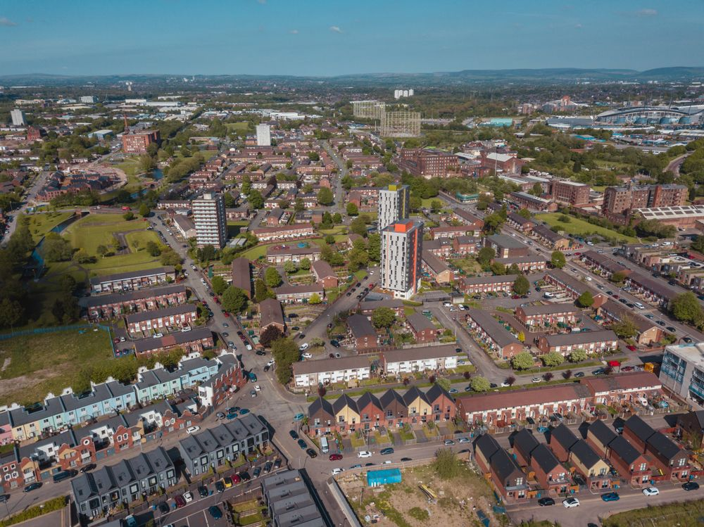 Aerial view of Northern Quarter