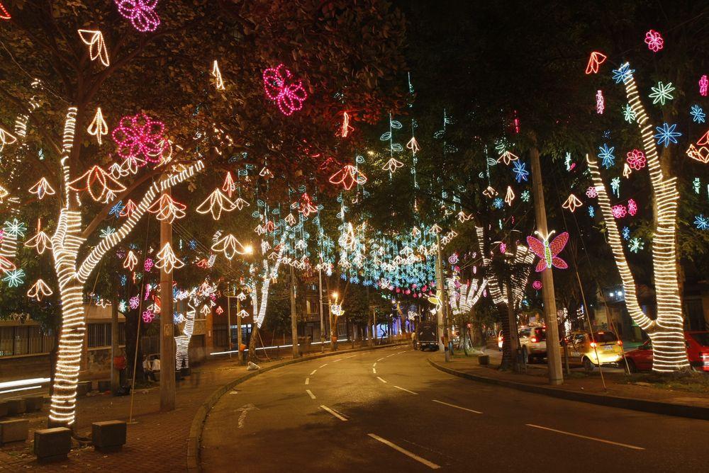 Christmas lights in Medellin