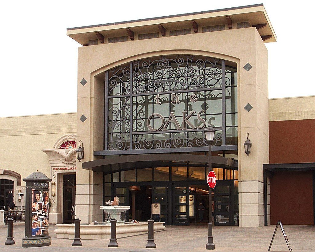 Outside view of The Oaks Mall