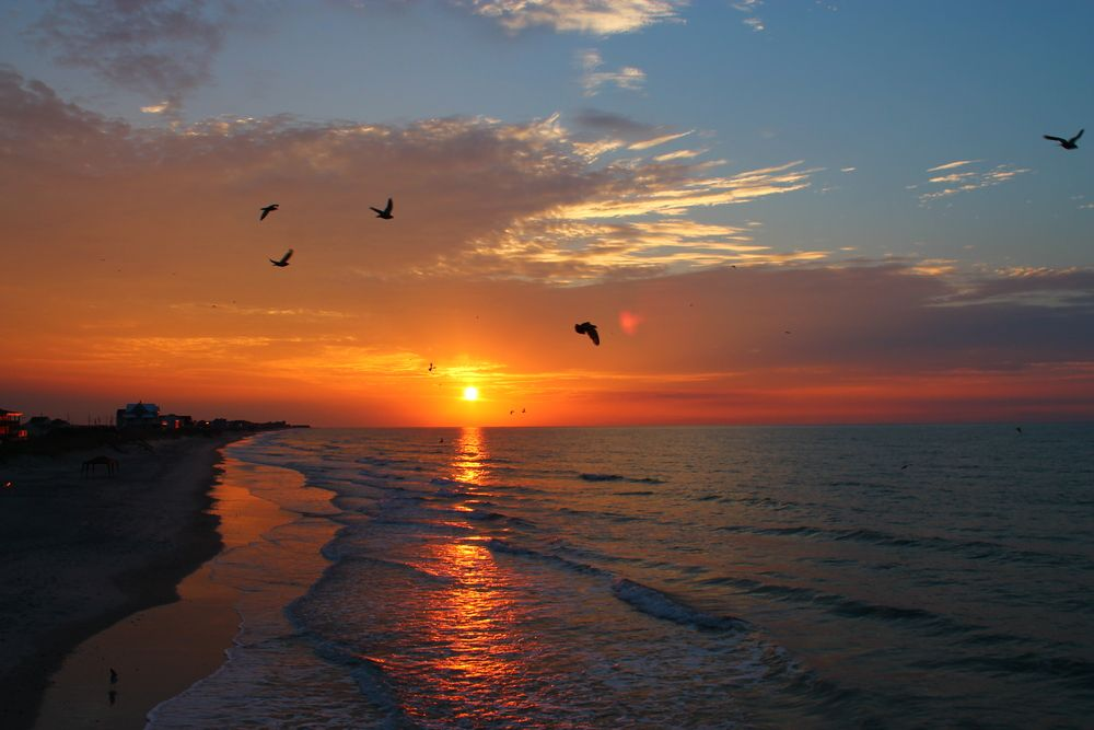 Sunset in Topsail Island