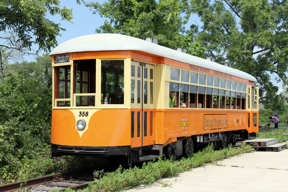 Trolley at Trolley Museum