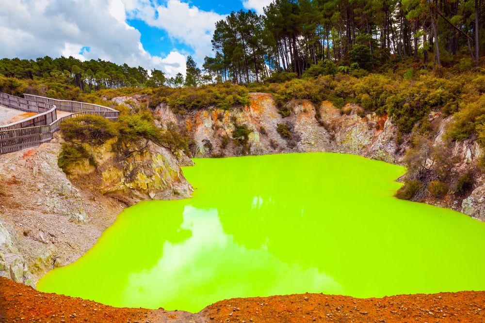 Devil's bath in Waimangu Volcanic Valley