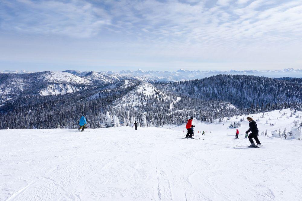 Skiers at Whitefish Mountain Resort