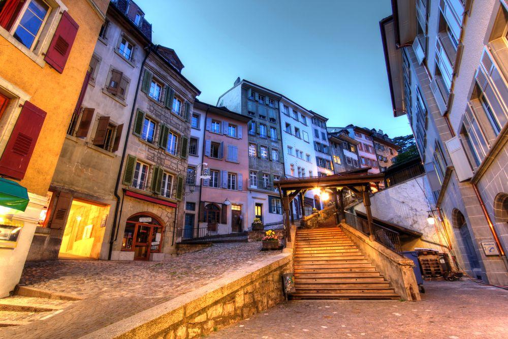Escaliers du Marche in Lausanne