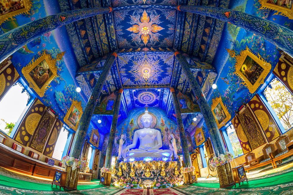 Inside view of Wat Rong Suea Ten