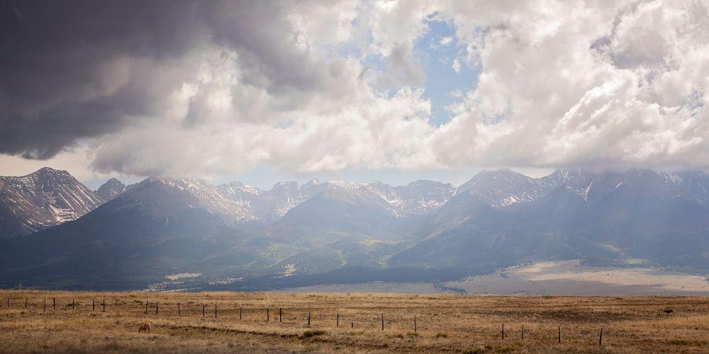 Wide view of Sangre De Cristo Mountains