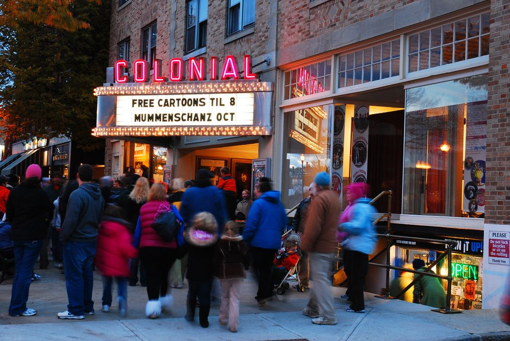 Outside of Colonial Theatre.
