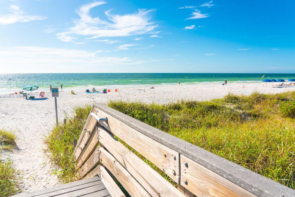 Indian rocks beach in Florida, USA