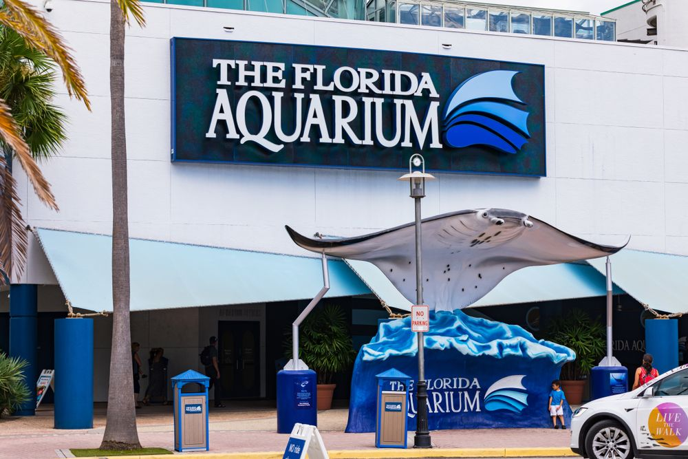 Outside of of Clearwater Marine Aquarium