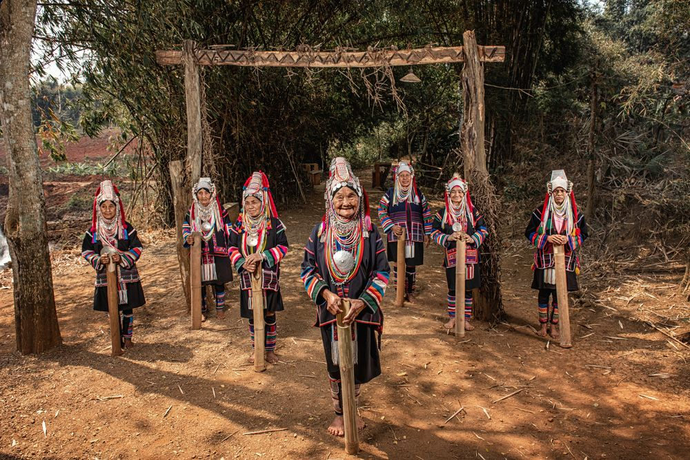Akha tribe Villages in North Thailand.