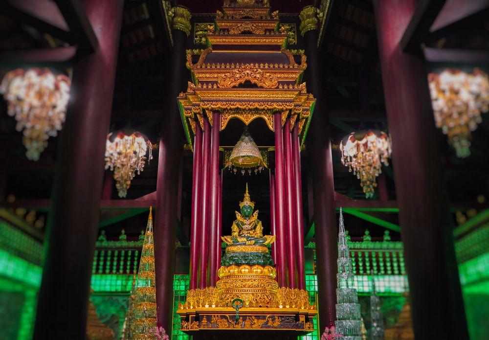 The Emerald Buddha Statue in Wat Phra Kaew