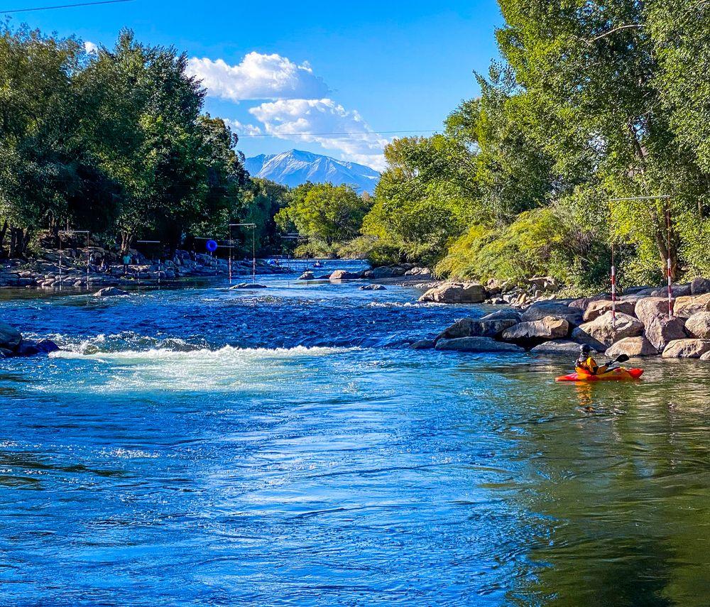 Arkansas river in the Salida, Colorado