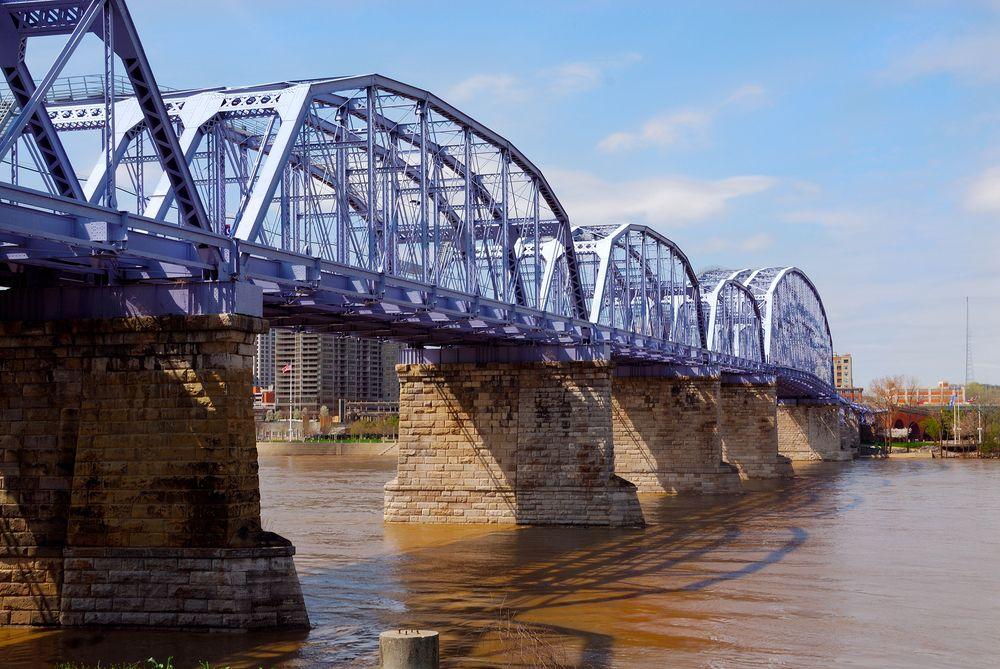 Newport Southbank Bridge in Newport, KY