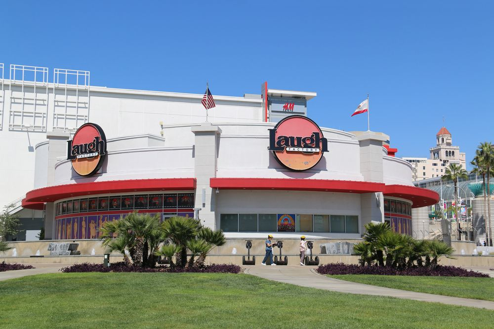 Outside view of The Laugh Factory