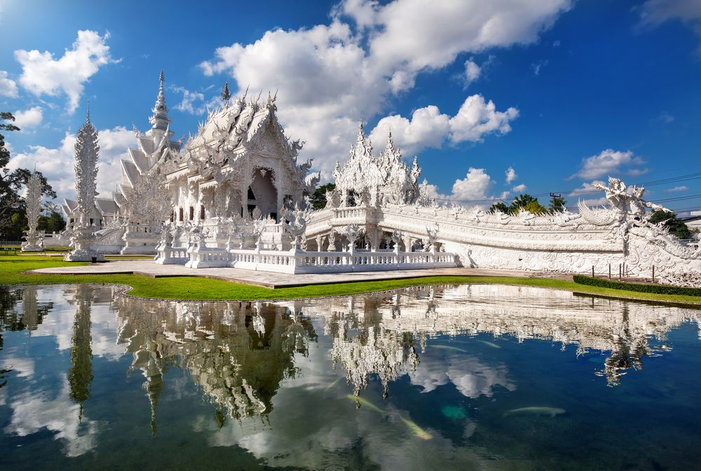Outside view of Around Wat Rong Khun