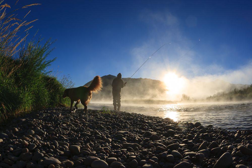 Fishing in Snake River