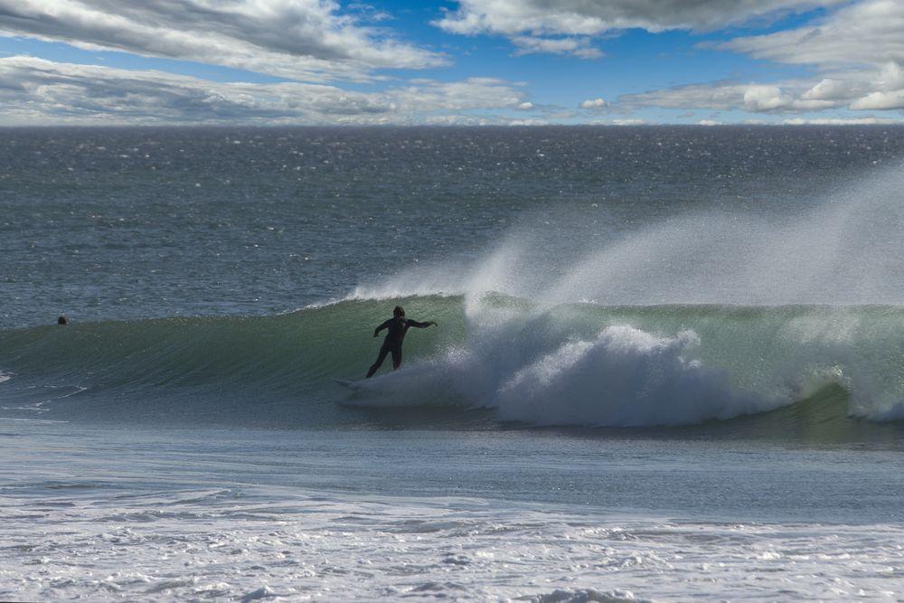 surfer at silver strand beach, onxard