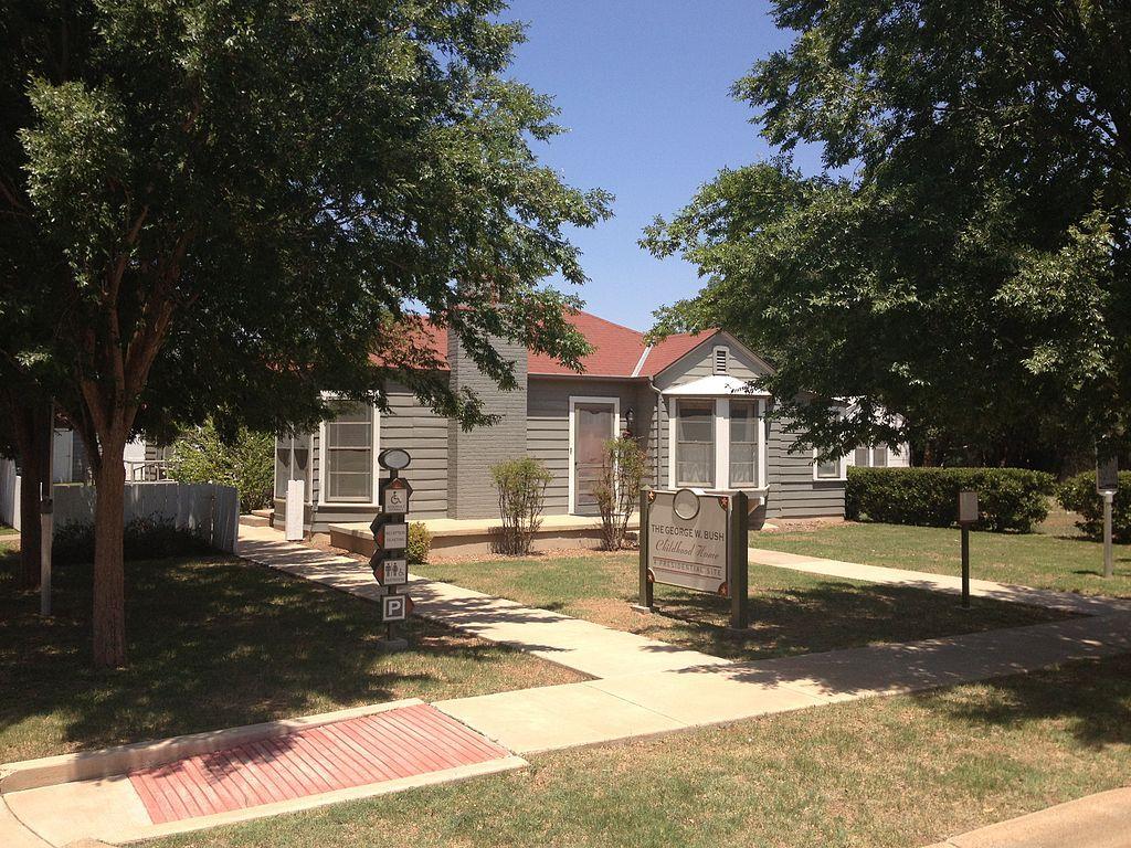 View of George W. Bush's Childhood Home
