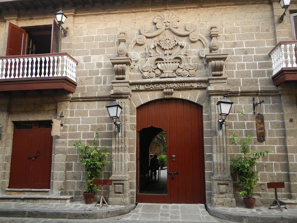 Outside Casa Manila