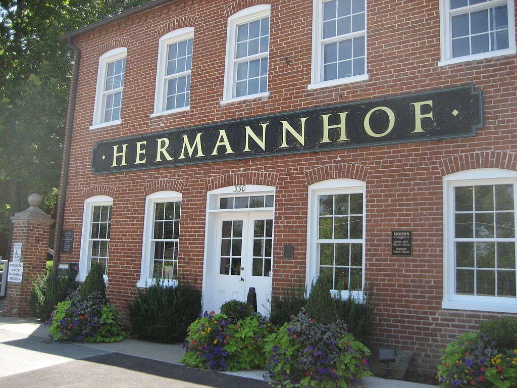 Outside of Hermannhof Winery