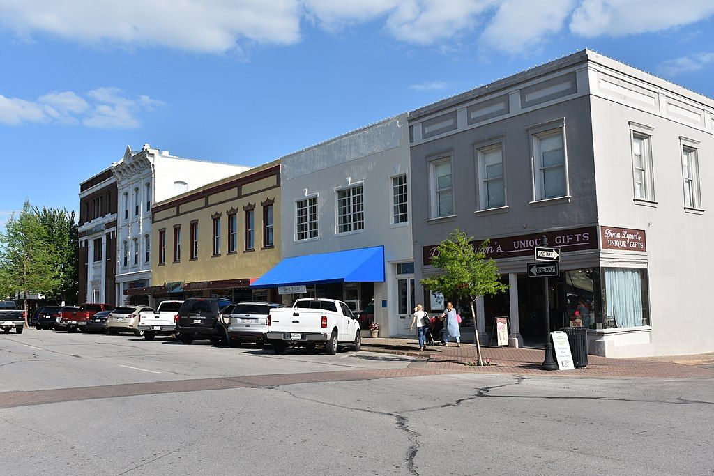Houses in Rockwall's Historic Main Street