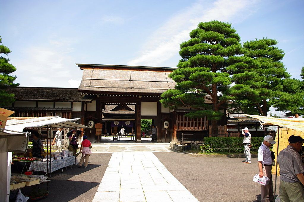 View of Takayama Jinja