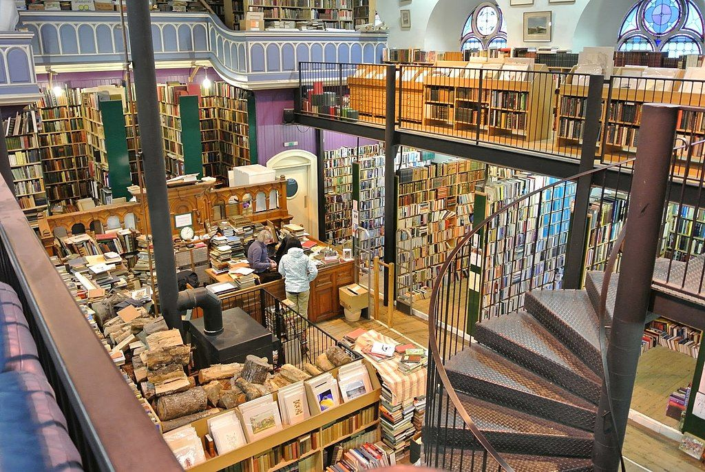 Inside Leakey's Bookshop