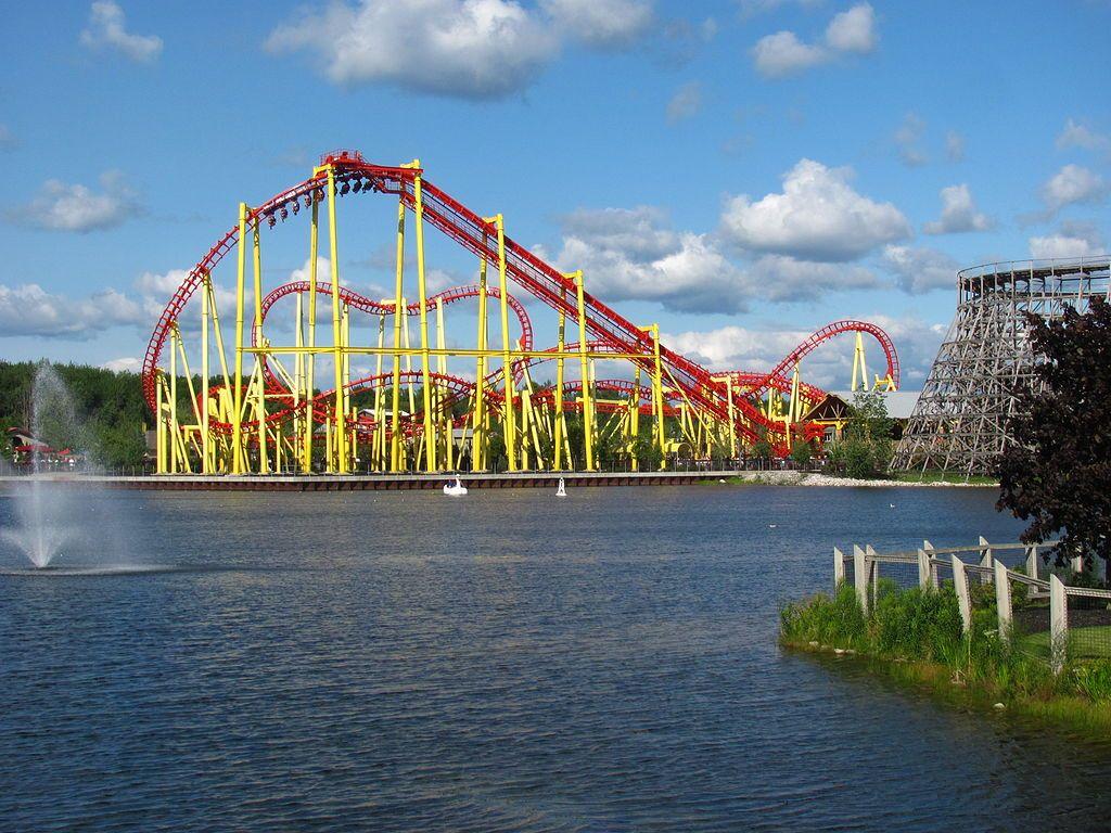 Roller Coaster in Michigan's Adventure