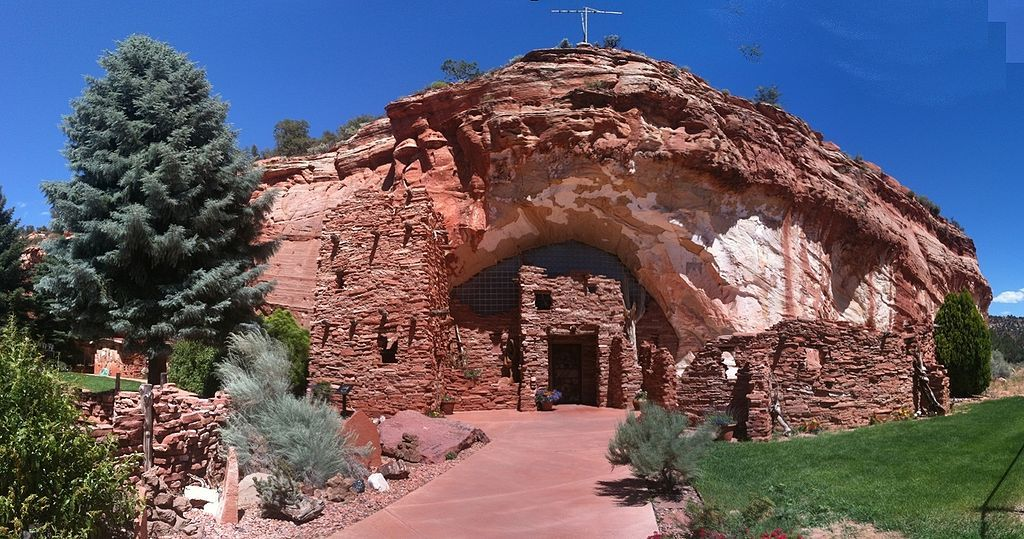 Outside view of Moqui Cave
