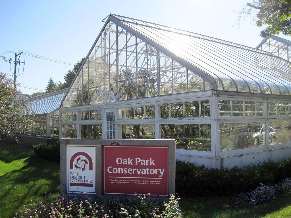 View of Oak Park Conservatory