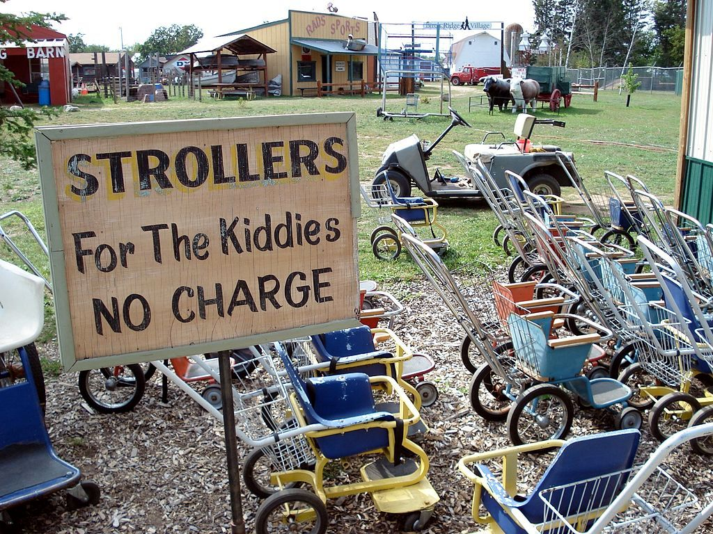A Sign and Bikes in Paul Bunyan Land