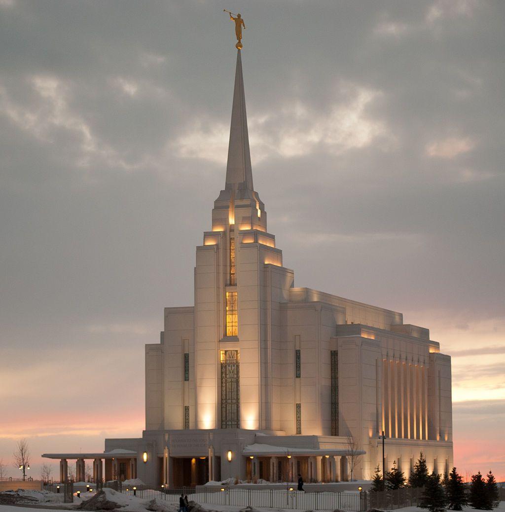 Sunset in Rexburg Idaho Temple