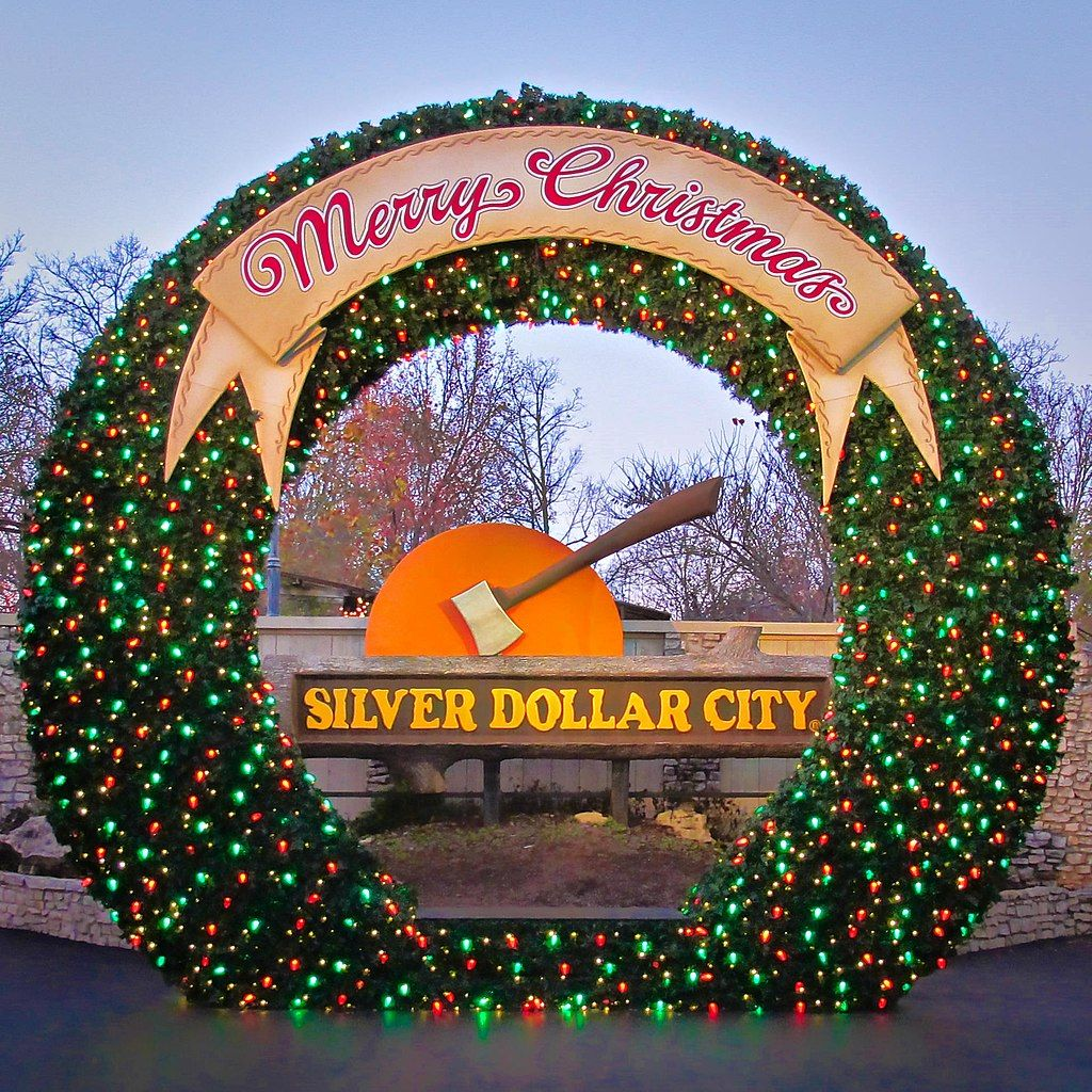 Christmas Decorations in Silver Dollar City