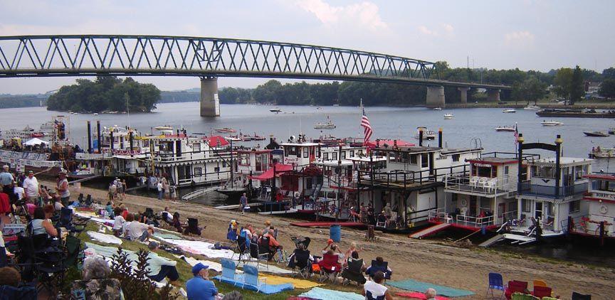 View of Ohio River Sternwheel Festival