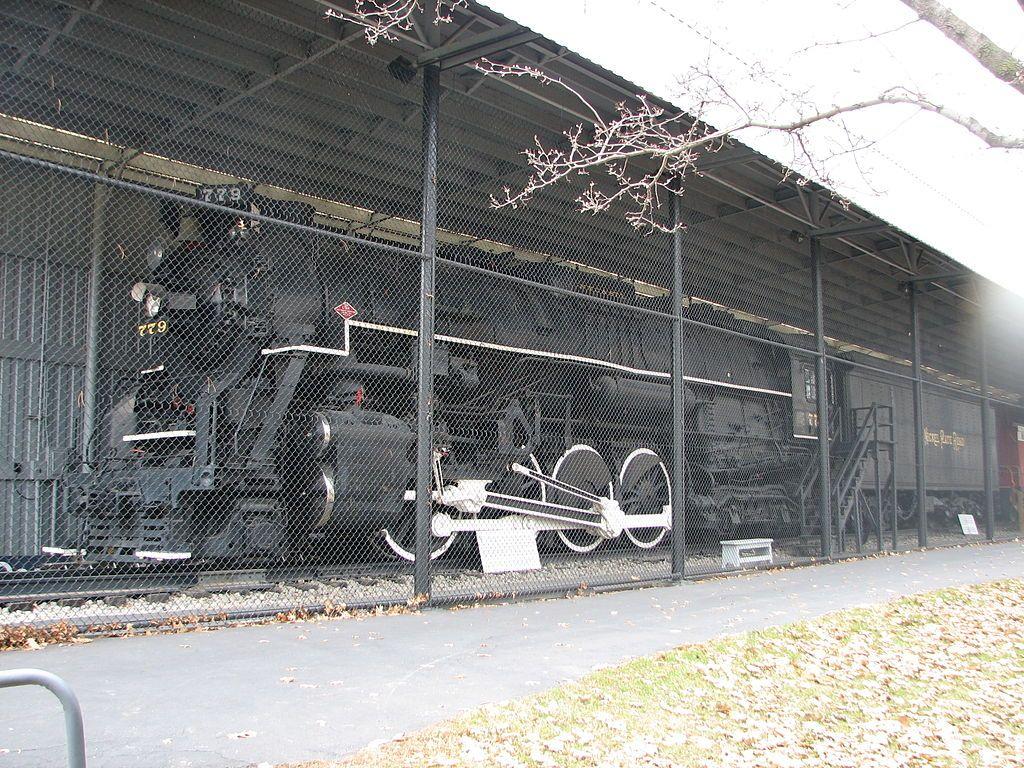 Locomotive No. 779 in the Lincoln Park Train Exhibi