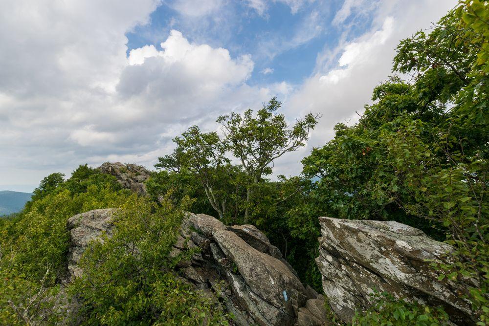 Rocks in Bearfence Mountain Trailhead