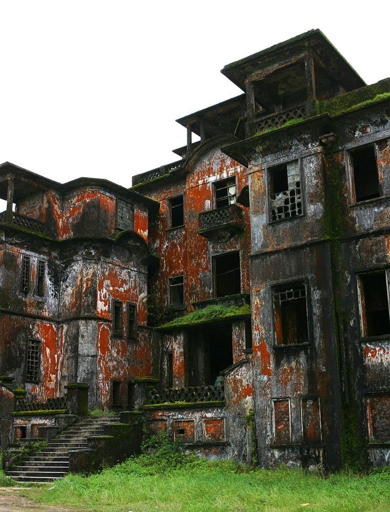 Bokor Palace in Bokor Hill Station