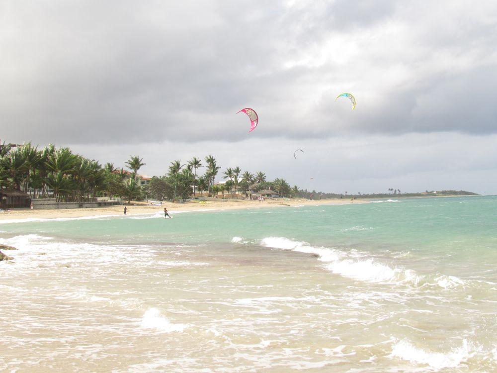 Kite boating in Cabarete