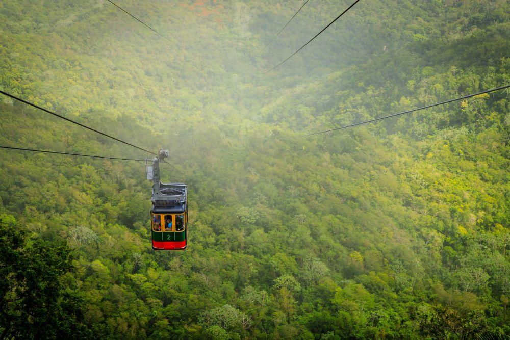 Cable car cabin on Mount Isabel de Torres