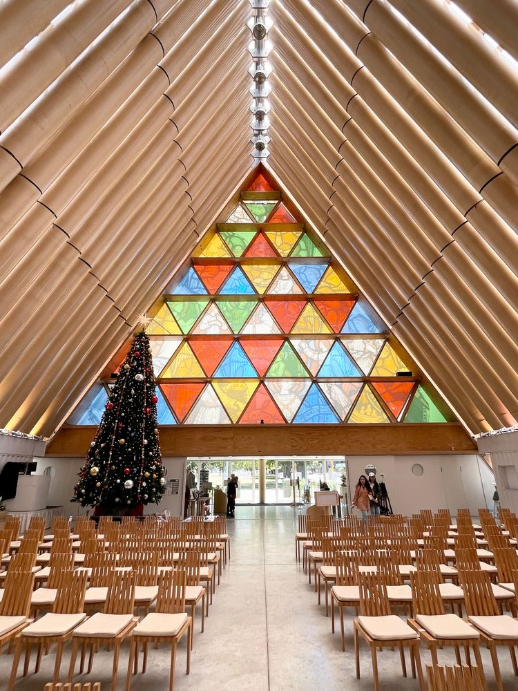 Interior of Cardboard Cathedral