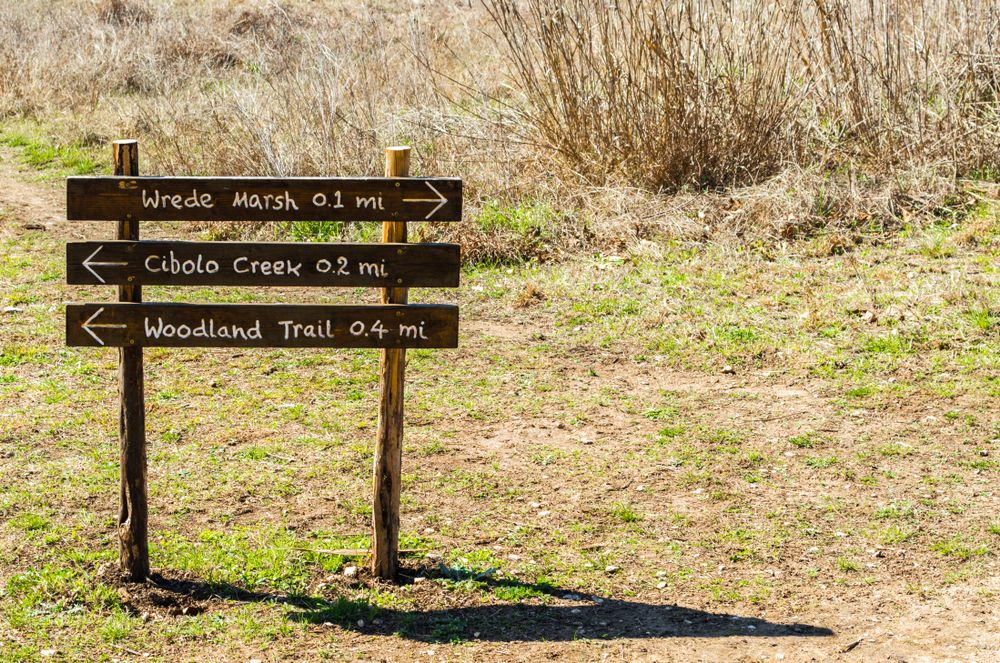 Sign at Cibolo Center for Conservation