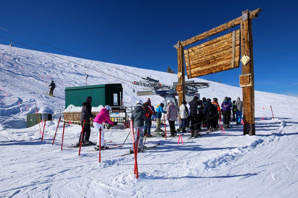 Ski lift in Copper Mountain