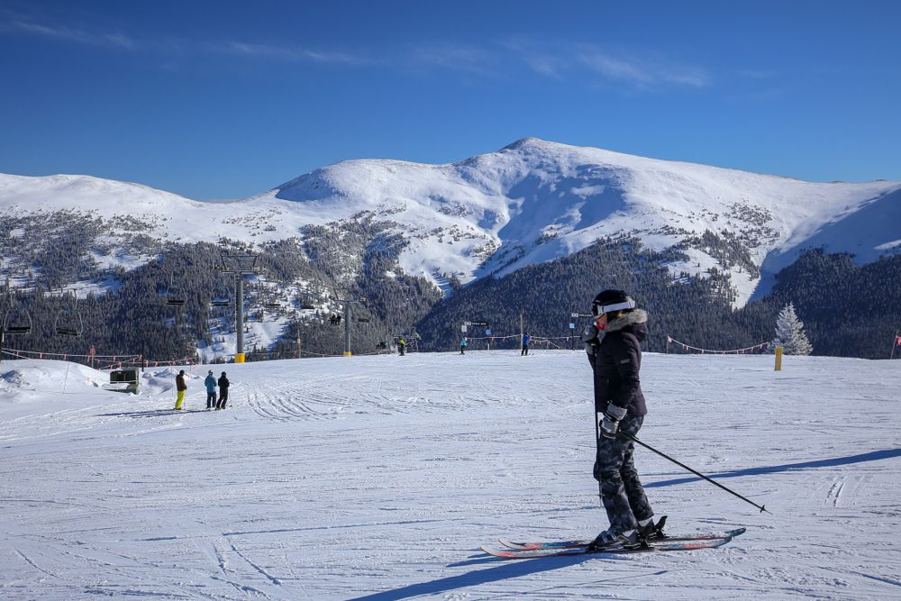 Skiing in Copper Mountain