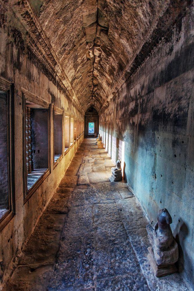Corridor at Angkor Wat