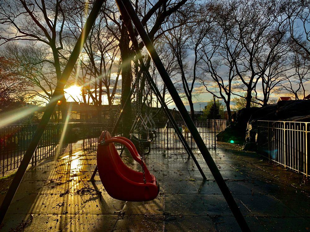 Sunset at DeWitt Clinton Park