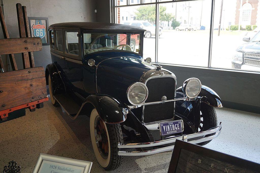 Display at Vintage Car Museum, Weatherford
