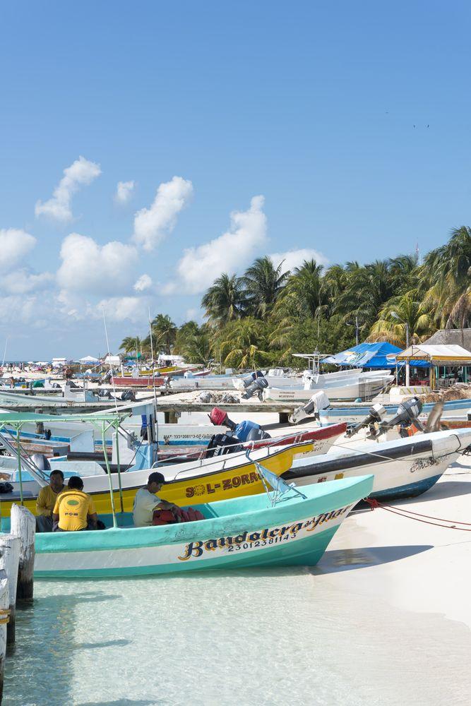 Fishing boats in Isla Mujeres