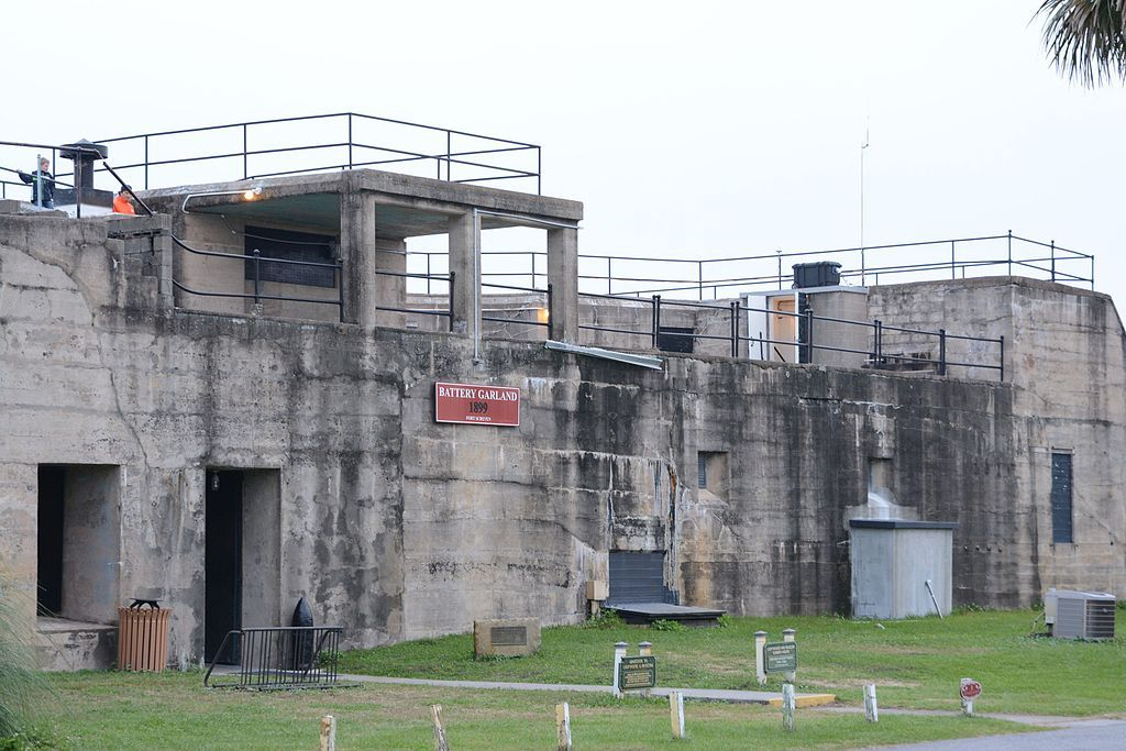 Outside view of Fort Screven at Tybee Island