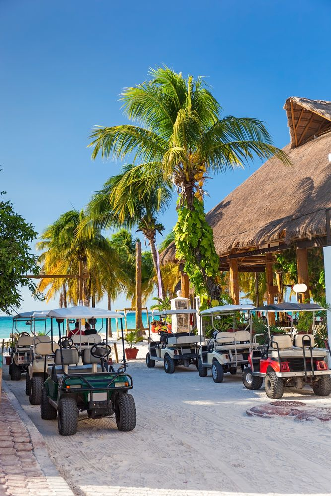 Golf Carts in Isla Mujeres