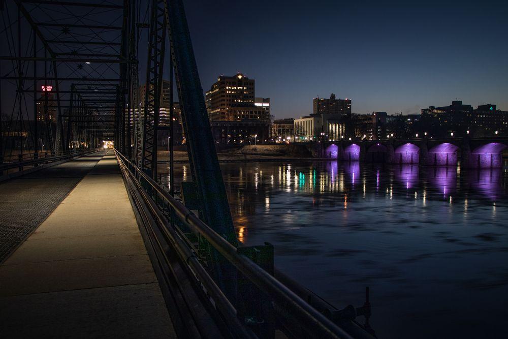 Bridge to Harrisburg City Island